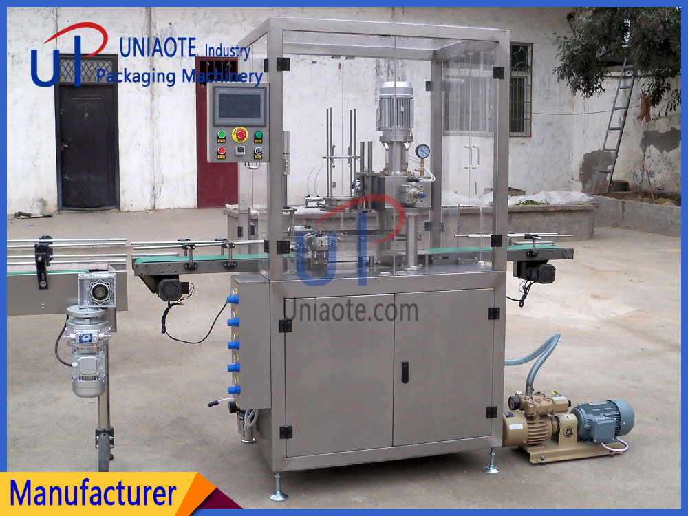 The Detials Pictures of Fully Automatic Vacuum Infill Nitrogen Seamer Machine