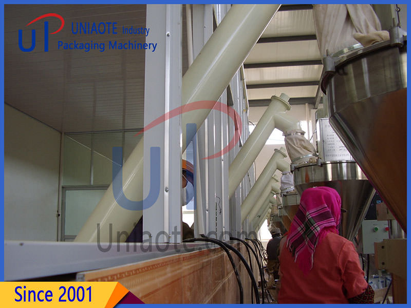 The Pictures On Scene of Auger Powder Filler and Auger Conveyor