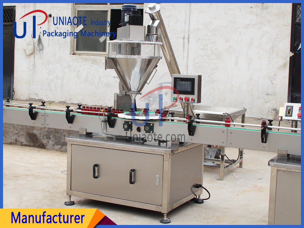 Automatic Powder Filler Filling Machine for Bottles Jars Detail Photo