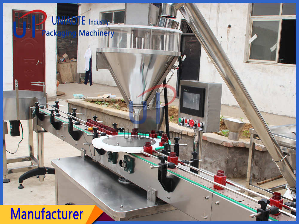 Automatic Powder Filler Filling Machine for Bottles Jars