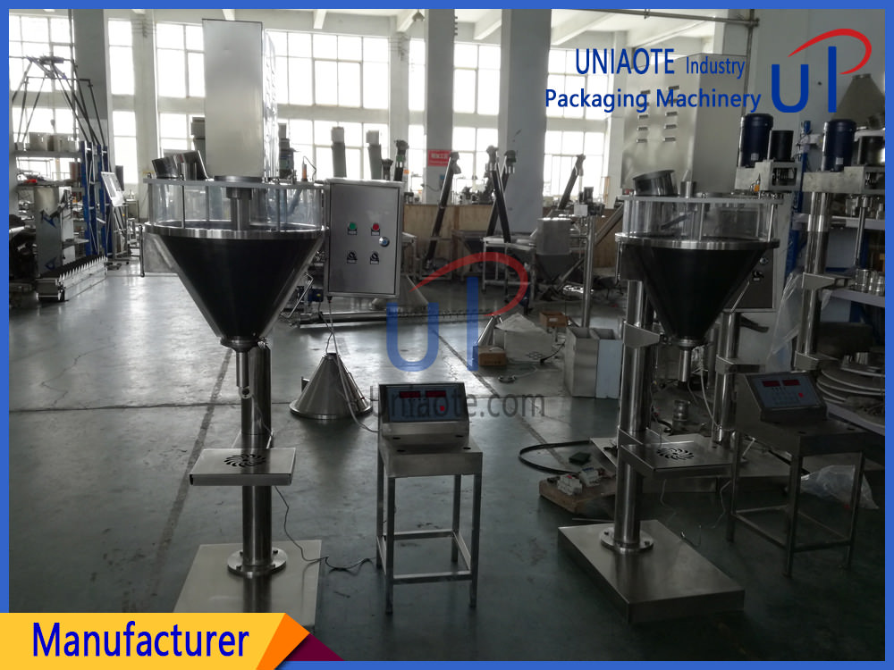 Semi Automatic Auger Powder Filler Filling Machine with Easy Clean Hopper export to United States of America
