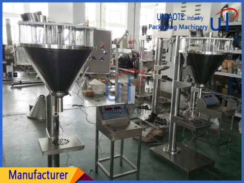 Semi Automatic Auger Powder Filler Filling Machine with Easy Clean Hopper