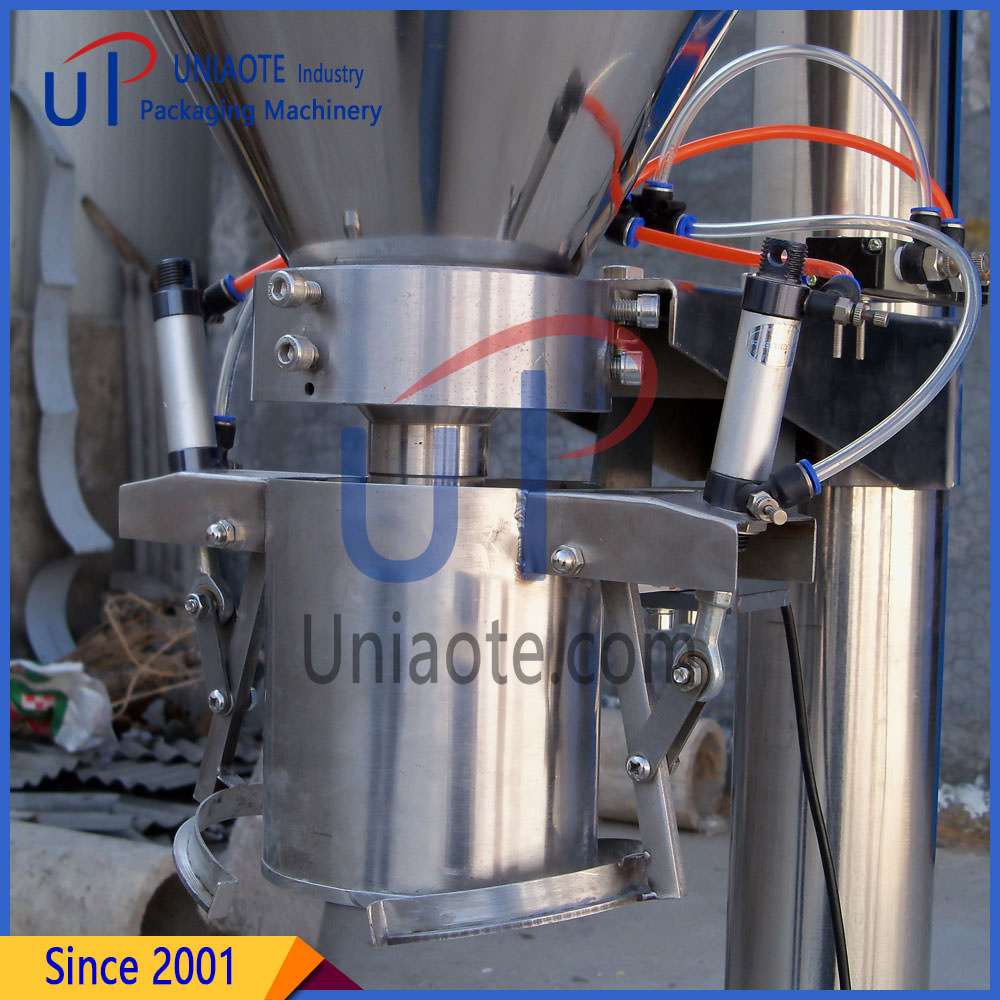 The Photo of Semi Automatic Powder Filler Machine with Clamp Holding Device