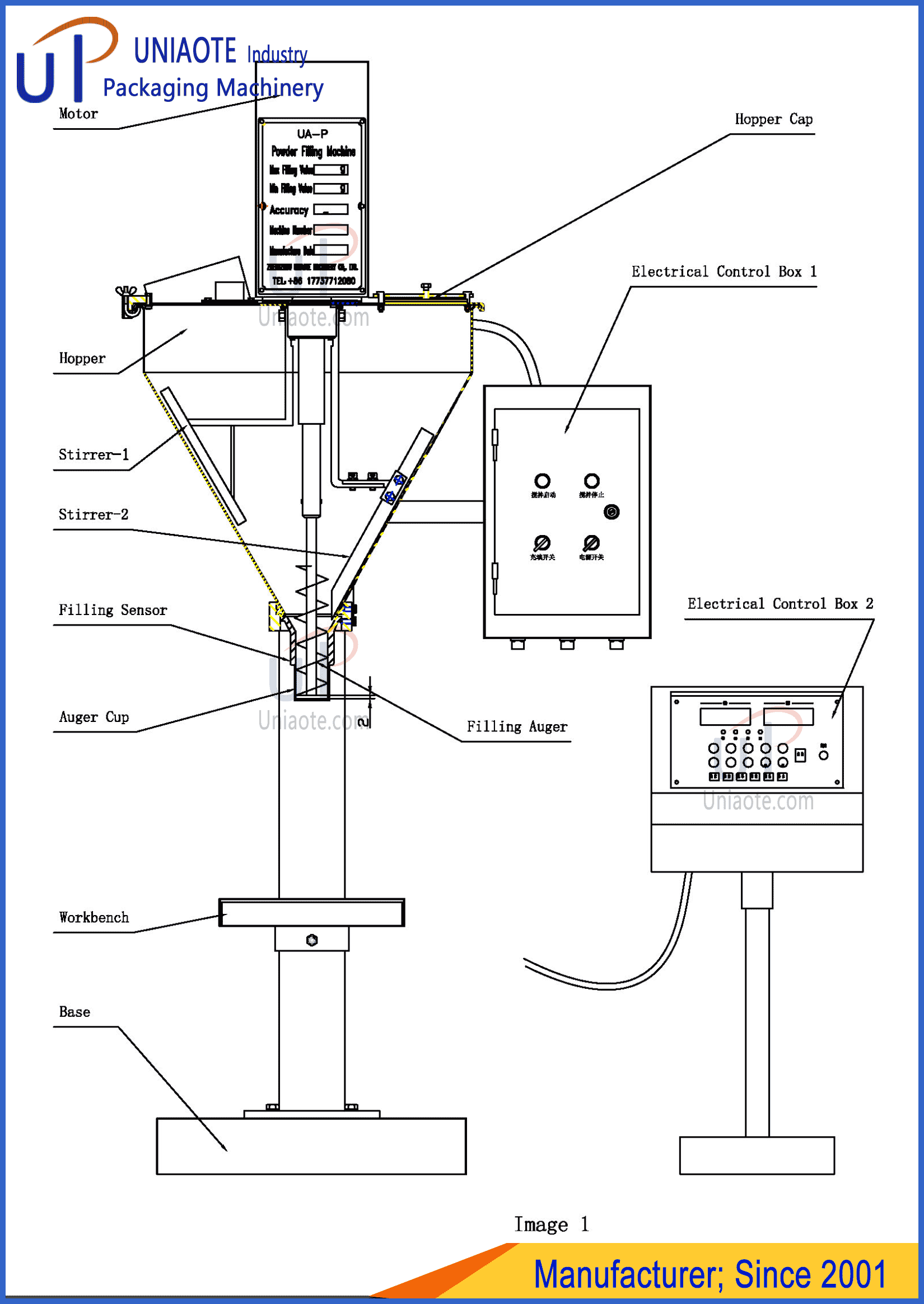 Auger Powder Filler Filling Machine Design Diagram